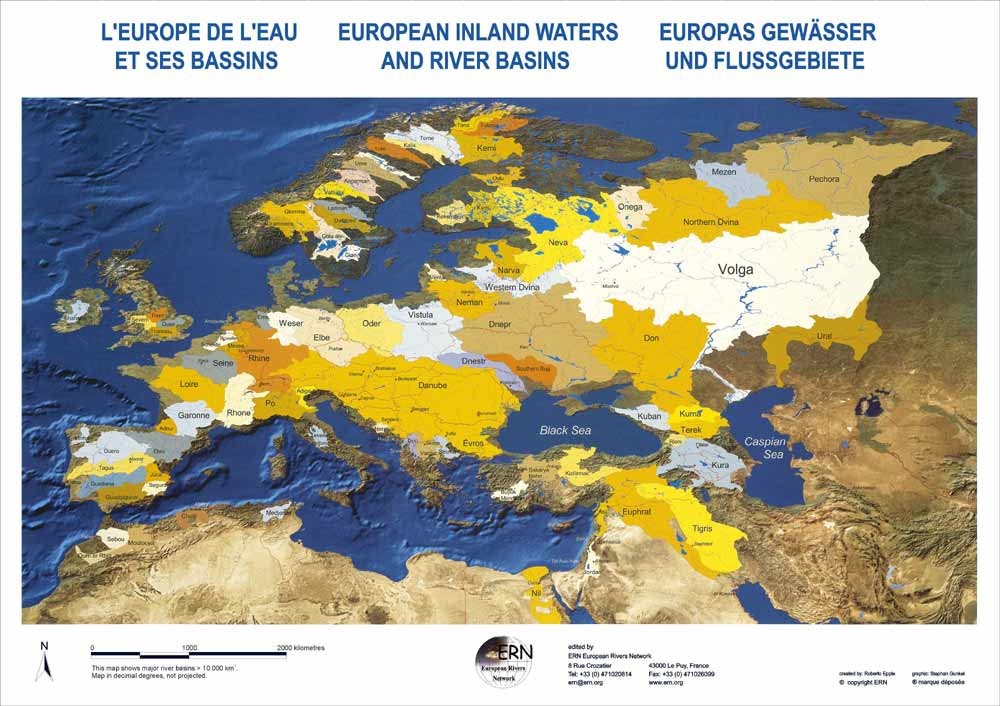 map european river basins